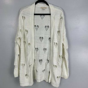 Love By Design Distressed Heart Cardigan